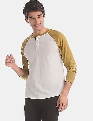 GAP Grey Long Sleeve Marled Henley