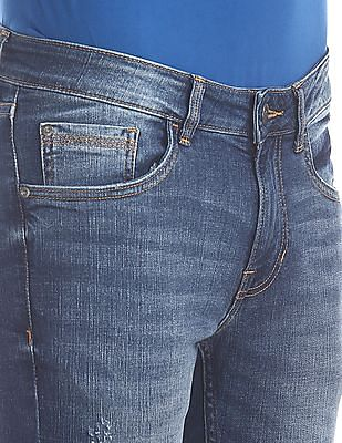 Cherokee Blue Skinny Fit Washed Jeans