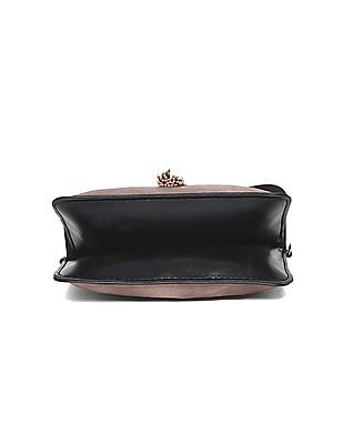 SUGR Pink Cutwork Tasselled Sling Bag