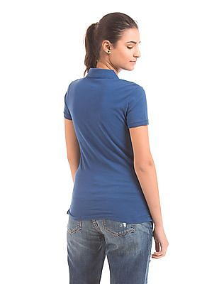 Aeropostale Relaxed Fit Pique Polo Shirt