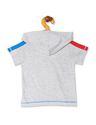 Donuts Boys Hooded Printed T-Shirt