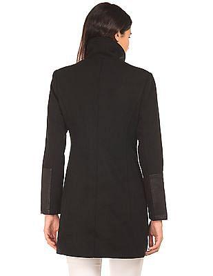 Elle Faux Collar Oversized Coat