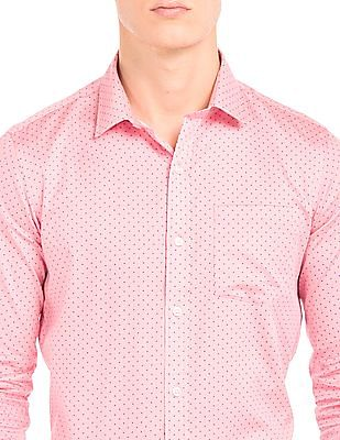 Arrow Slim Fit Striped And Printed Shirt