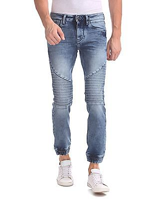 Flying Machine Acid Wash Jogger Jeans