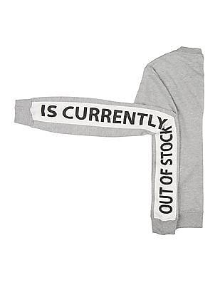 SUGR Printed Panel Round Neck Sweatshirt