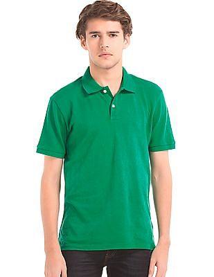 GAP Men Green Solid Piqué Polo