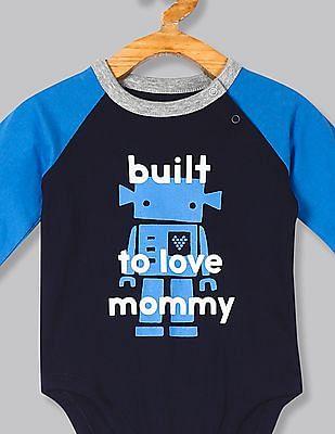 GAP Blue Baby Raglan Sleeve Bodysuit