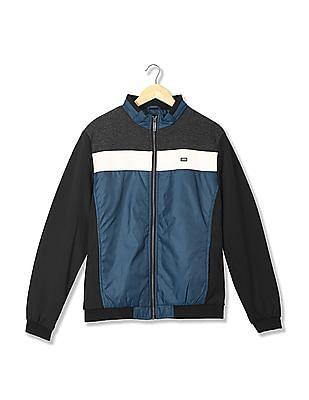 Arrow Sports Regular Fit Colour Blocked Jacket