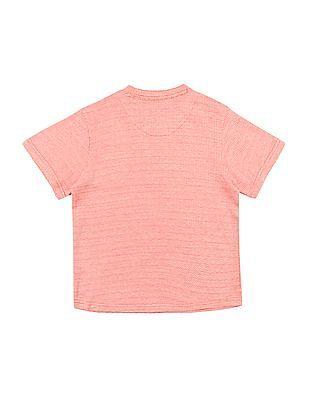 Cherokee Boys Chevron Pattern Patch Pocket T-Shirt