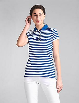 GAP Short Sleeve Striped Polo Shirt