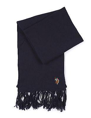U.S. Polo Assn. Tasselled Wool Muffler