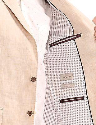 Arvind Single Breasted Linen Blazer