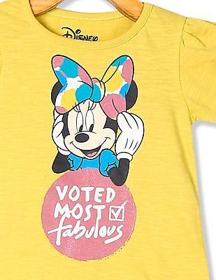 Colt Girls Round Neck Minnie Mouse Print T-Shirt