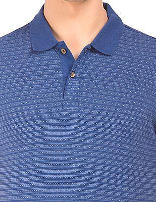Izod Slim Fit Patterned Polo Shirt