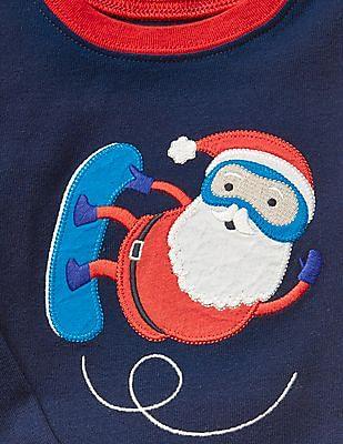 GAP Baby Blue Santa Sleep Set