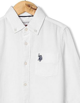 U.S. Polo Assn. Kids Boys Regular Fit Button Down Shirt