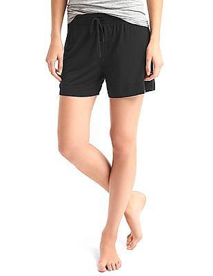 GAP Women Black Pure Body Modal Shorts