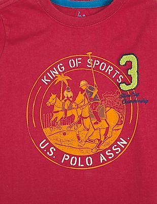 U.S. Polo Assn. Kids Boys Printed Cotton T-Shirt