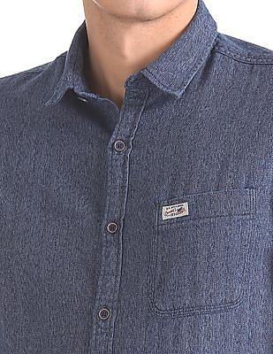 U.S. Polo Assn. Denim Co. Slim Fit Patterned Weave Shirt