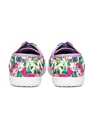 SUGR Floral Print Canvas Sneakers