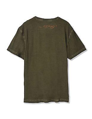 Ed Hardy Regular Fit Printed T-Shirt