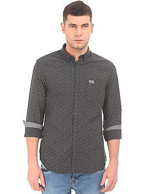 U.S. Polo Assn. Denim Co. Button Down Collar Floral Printed Shirt