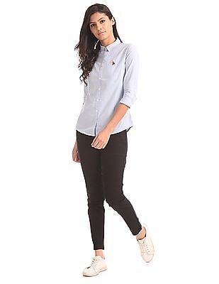 U.S. Polo Assn. Women Standard Fit Striped Shirt