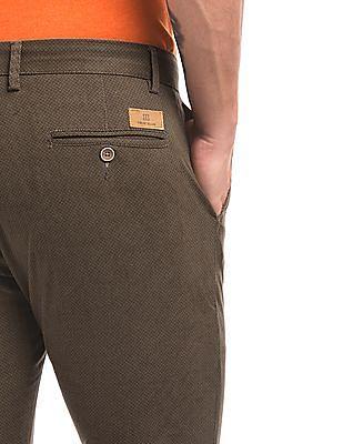 True Blue Printed Slim Fit Trousers