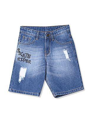 Cherokee Boys Distressed Denim Shorts