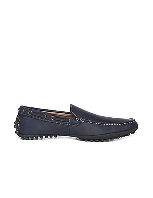Johnston & Murphy Solid Leather Loafers
