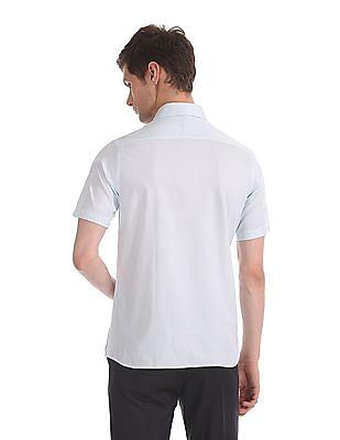 Arrow White Regular Fit Short Sleeve Shirt