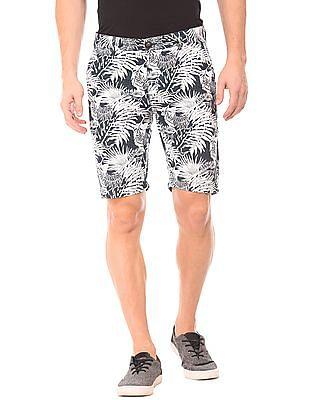 Ed Hardy Tropical Print Slim Fit Shorts