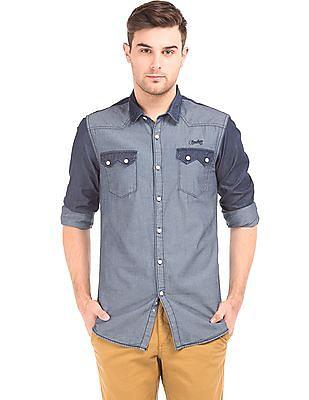 Cherokee Slim Fit Chambray Shirt