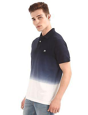 Aeropostale Ombre Dyed Pique Polo Shirt