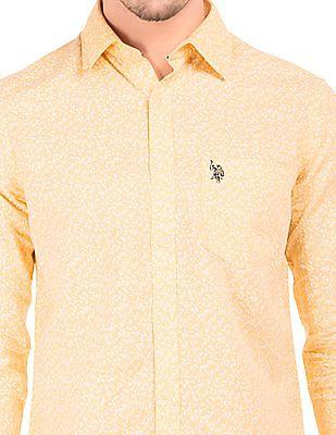 U.S. Polo Assn. Printed Cotton Linen Shirt