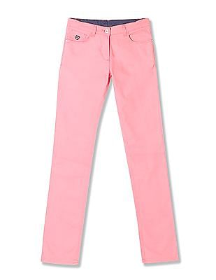 U.S. Polo Assn. Kids Girls Solid Twill Trousers