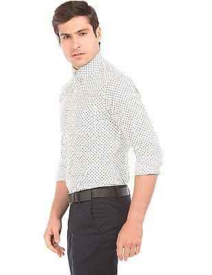 Arrow Geometric Print Slim Fit Shirt
