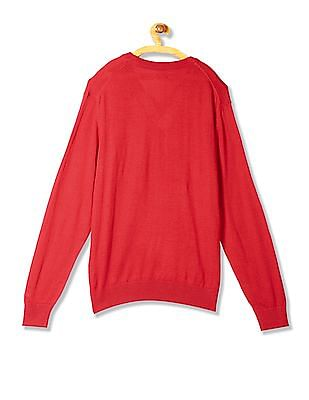 Izod Long Sleeve V-Neck Sweater