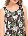 EdHardy Women Floral Print Front Tank Top