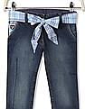 U.S. Polo Assn. Kids Girls Standard Fit Stone Wash Capri Jeans