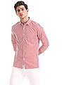 Excalibur Red Patch Pocket Striped Shirt