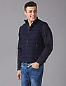 True Blue Detachable Sleeves Quilted Jacket