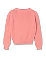 U.S. Polo Assn. Kids Girls Cable Knit Crew Neck Sweater
