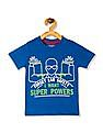 Cherokee Blue Boys Crew Neck Graphic T-Shirt