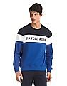 U.S. Polo Assn. Blue Crew Neck Colour Block Sweatshirt