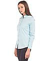 Arrow Woman Solid Cotton Spandex Shirt