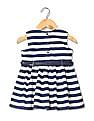 Donuts Girls Striped Belted Dress
