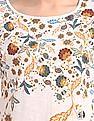 Cherokee Floral Printed Drop Shoulder Top