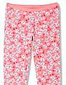 U.S. Polo Assn. Kids Girls Floral Print Cotton Spandex Leggings