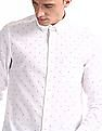 Arrow Sports White Button Down Collar Slim Fit Shirt